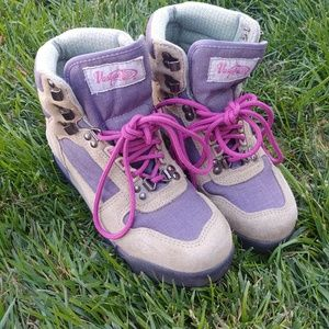Women's Vasque Hiking Boots Purple Leather